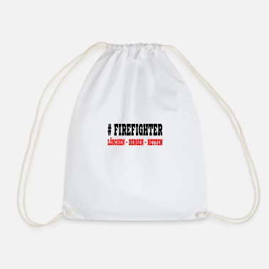 Rescue Firefighter Loeschen rescue mountains - Drawstring Bag