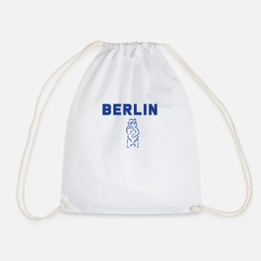 Berlin Bear Berlin Bear / Berlin strong as a bear. - Drawstring Bag