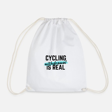 Birthday Girl Cycling: Thank you for existing. - Drawstring Bag