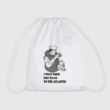 Seaman drinking the coffee - Drawstring Bag