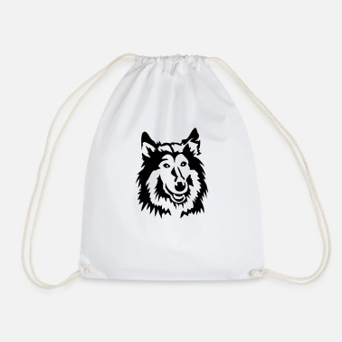 Collie collie - Drawstring Bag