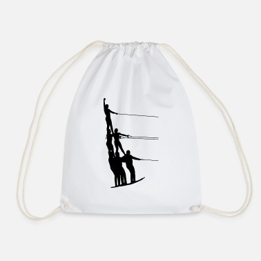 Skiing Water skiing water sports - Drawstring Bag