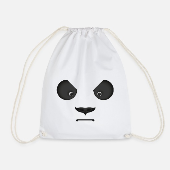 Panda Bags & Backpacks - Bad panda look - Drawstring Bag white