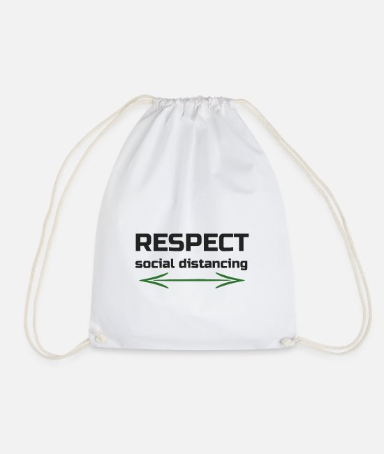 Epidemic Bags & Backpacks - Distance4 - Drawstring Bag white