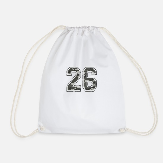 Army Bags & Backpacks - Numbers Camouflage Paintball Bundeswehr 26 - Drawstring Bag white