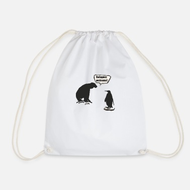 South Pole North Pole and South Pole - Drawstring Bag