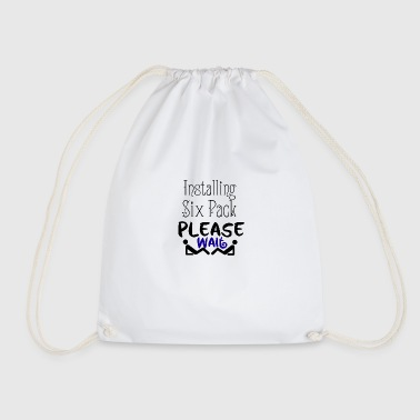 Installing six pack - Drawstring Bag