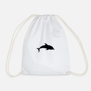 Dolphin A Floating Dolphin - Drawstring Bag