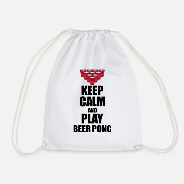 Mtv Keep calm and beer pong - Drawstring Bag