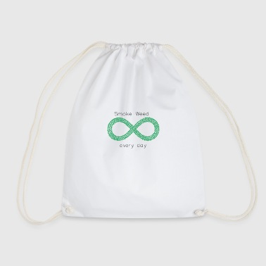 Smoke weed every day - Drawstring Bag