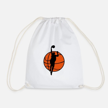 Basketball Player Basketball & Basketball Player  - Drawstring Bag
