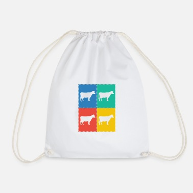 Cow Stamps Stamps - Drawstring Bag