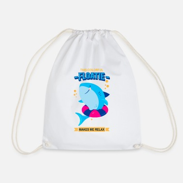 This Colorful Floatie Make Me Relax, Swimming,Swim - Drawstring Bag