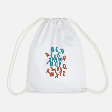 Alphabet Alphabet - Drawstring Bag