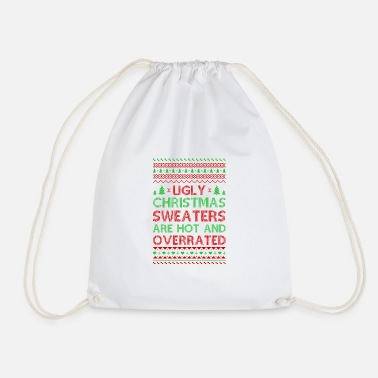 Design Christmas Funny Xmas Sweater Winter Holiday Gift - Drawstring Bag