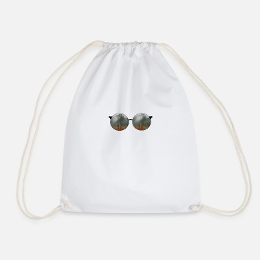 Glasses reflection Amazon fire - Drawstring Bag