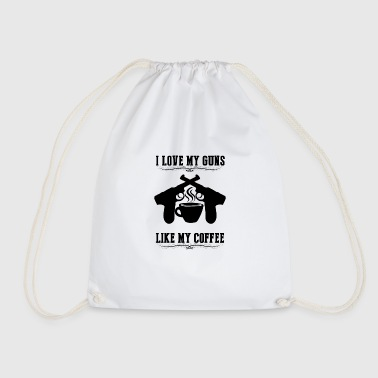Love Guns and Coffee Arma de rifle de café negro - Mochila saco