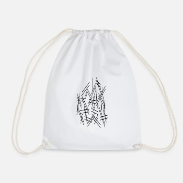 Dash Dashes lines - Drawstring Bag