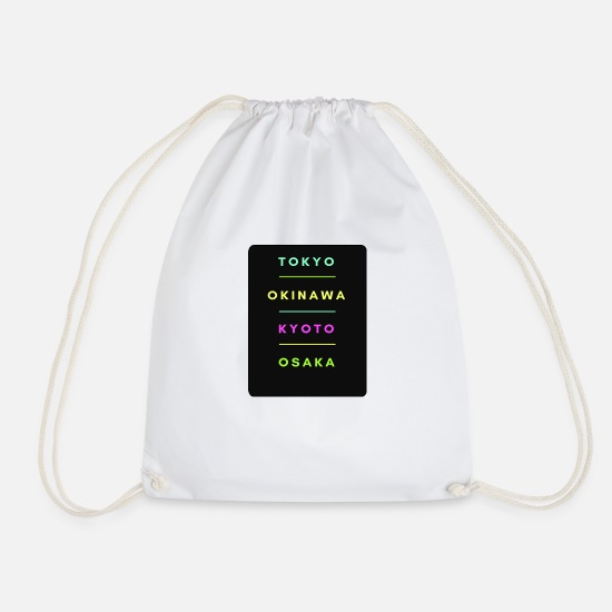 Travel Bags & Backpacks - Tokyo Okinawa Osaka - Drawstring Bag white