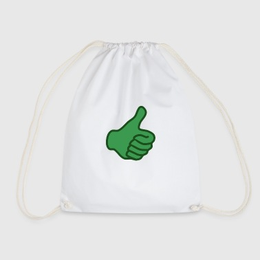 Green thumb up - Drawstring Bag