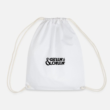 Grill Barbecue BBQ Grill Grillkönig Grillmeister gift - Drawstring Bag