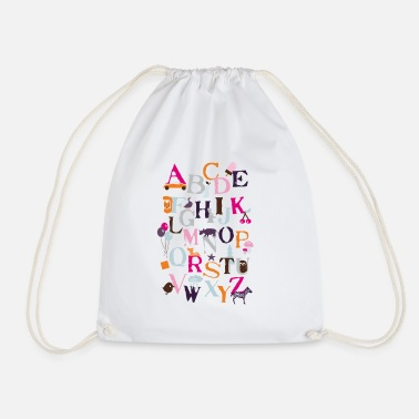 Back To School Motif ABC - Drawstring Bag