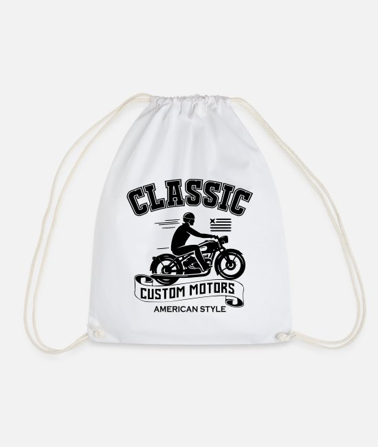 Classic Car Bags & Backpacks - Classic Custom Motors - Drawstring Bag white