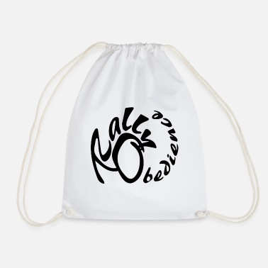 Rally obedience design for dog sport with dog - Drawstring Bag