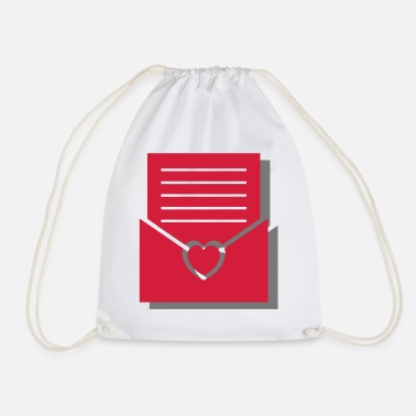 Love Letter Love letter with heart - love, letter, in love, sweet - Drawstring Bag