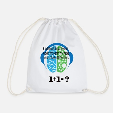 I will not let anyone walk through my mind with - Drawstring Bag
