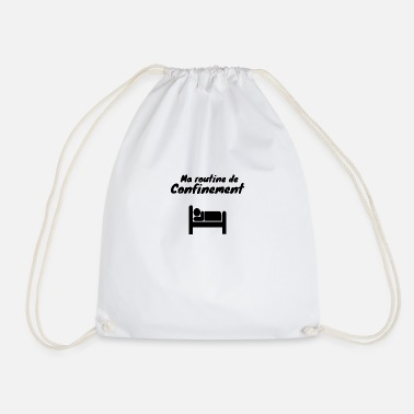 Coronavirus Containment sleep humor - Drawstring Bag