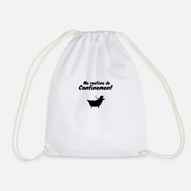 Coronavirus containment humor - Drawstring Bag