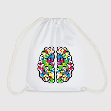 Creative colourful brain - Mochila saco