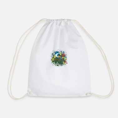 Die Colorful bird - Drawstring Bag