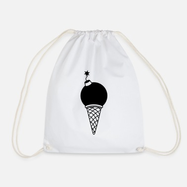 Cannonball bullet ice bomb cannonball explosion zuender spr - Drawstring Bag