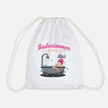 Bathroom Showering and Bathing - Bathroom Junkie - Drawstring Bag
