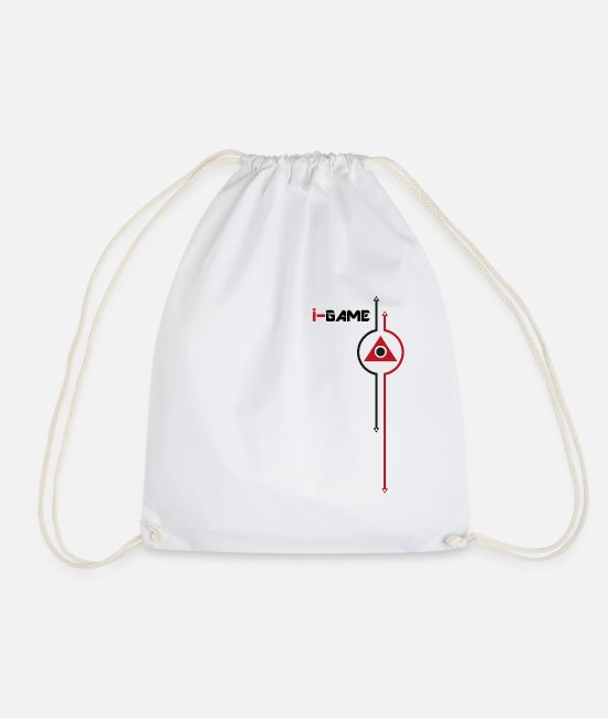 Tech Bags & Backpacks - i-game 'I am a Gamer' apparel - Drawstring Bag white