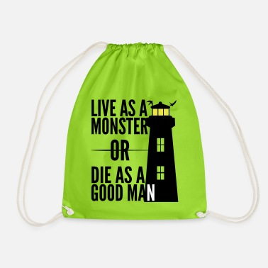Monster or good man! Shutter Island movie quote - Drawstring Bag