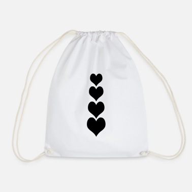 Sleeve Heart for sleeves and tie - Drawstring Bag