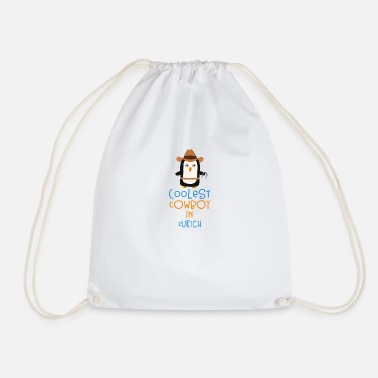 Personal Coolest Cowboy Penguin in Zurich Gift - Drawstring Bag