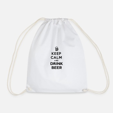 Keep Calm And Drink Beer - Drawstring Bag
