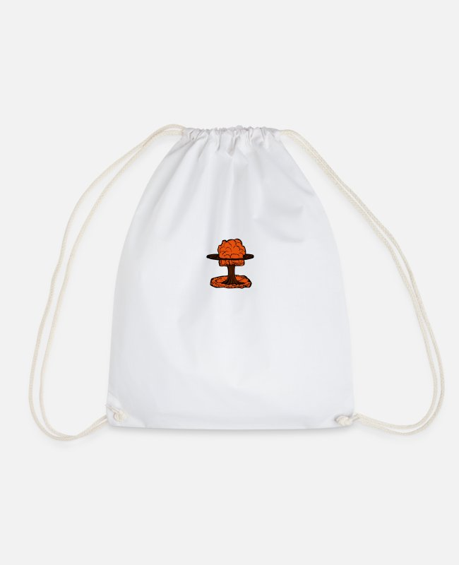 Chernobyl Bags & Backpacks - Nuclear Explosion Mushroom Cloud - Drawstring Bag white