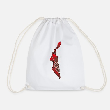 Red Bandana - Drawstring Bag