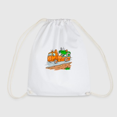 Tow truck with tractor for children - Drawstring Bag