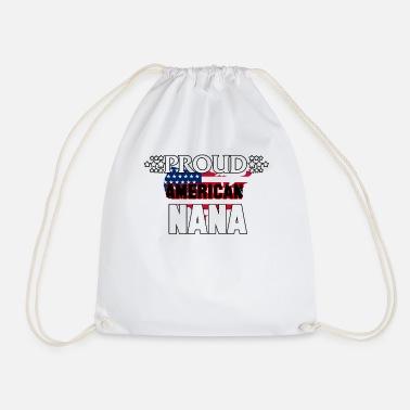 Orgogliosa americana Nana American Flag Nonna nonna - Sacca sportiva 32d0f8d9f2b6