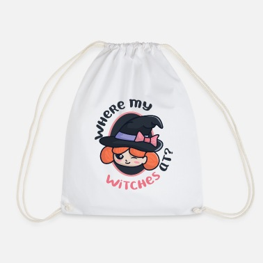 Witch Witch with witch hat - Drawstring Bag