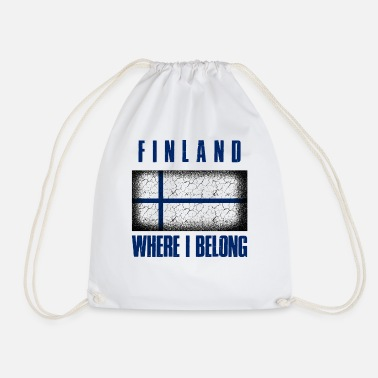 Patriot Suomi Where I Belong | Finland Helsinki geschenk - Gymtas