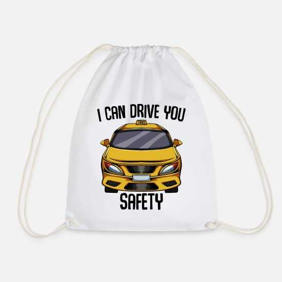 Gift Idea Bags & Backpacks - Taxi driver taxi taxi taxi business gift idea - Drawstring Bag white