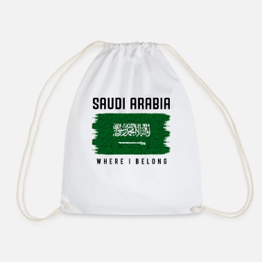 Saudi-arabische Nationalflagge Saudi-Arabien Where I Belong Statement Geschenk - Turnbeutel