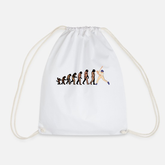 Player Number Bags & Backpacks - EVOLUTION BASEBALL player baseball player shirt - Drawstring Bag white